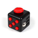 Anti Stress Fidget Cube 6 Sides Red Black