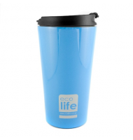 Ecolife Coffee Thermos Cup Sky Blue 370ml