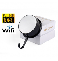 Safest H57 Κρυφή WiFi Κάμερα Κρεμάστρα 1080P WiFi/FHD/mSD/IP/Motion Detect/Night Vision