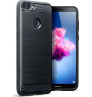 Terrapin Θήκη Σιλικόνης Carbon Fibre Huawei P Smart - Black (118-083-171)