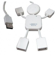 White mini man 4-usb oem