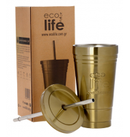Ecolife Coffee Thermos Cup Bronze 480ml