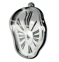 Επιτραπέζιο Melting Time clock silver 79/3175