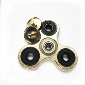 Fidget Spinner Aluminium Metal 65g Three Leaves 6 minutes