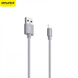 Awei USB 2.0 to i phone 5/8 Cable Silver 30cm