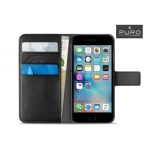 Puro Wallet Case iPhone (6/6s/7/8) - Black (IPC747BOOKC4-BLK)