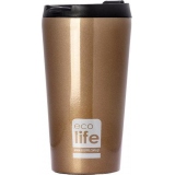 EcoLife Μεταλλικό Coffee Thermos Bronze 370ml