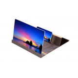 12.0 inch Universal Πτυσσόμενη Βάση 3D Video Mobile Phone Screen Magnifier Dark Brown