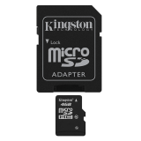 KINGSTON Memory Card MicroSD SDC10/4GB, Class 10, SD Adapter