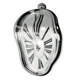 Επιτραπέζιο Melting Time Clock Silver 22810
