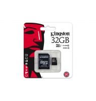 KINGSTON Memory Card MicroSD SDC10G2/32GB Class 10 SD Adapter UHS-I
