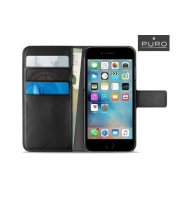 Puro Wallet Case iPhone (6/6s/7/8) Plus - Black (IPC755BOOKC4-BLK)