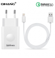 Φορτιστής Qihang Z06 QC3.0 1m Fast Charger with Lightning Cable