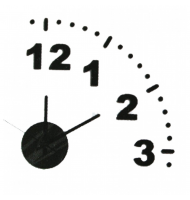 Ρολόι Τοίχου Quarter Clock Do It Yourself Black