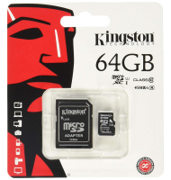 Kingston MicroSDHC 64GB Class 10 με SD Αντάπτορα SDC10/64GB