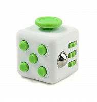 Anti Stress Fidget Cube 6 Sides White Green