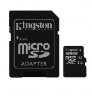 KINGSTON Memory Card MicroSD 128GB Class 10 SD Adapter