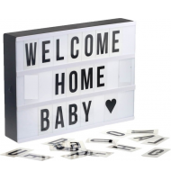 Mini Φωτεινός Πίνακας Led Light Box A4 With 80 Letters Symbols Cards Luminous Box