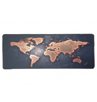 Gaming Mousepad Orange World Map 80X30CM