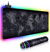 GMS RGB Gaming MousePad Large World Map 80X30CM - 13 Modes