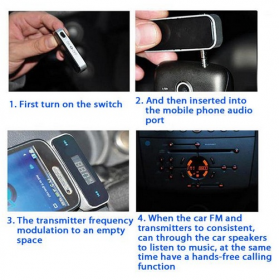 FM Transmitter - 3.5mm In Car Handsfree & FM Transmitter G1592