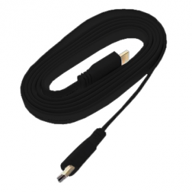 High Speed HDMI 1.4 3D Cable with Ethernet - 3m Flat Type - FullHD 1080p
