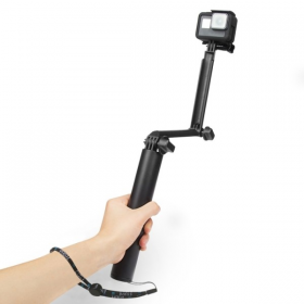 PULUZ 3-Way Grip Foldable Multi-functional Selfie-stick Extension Monopod Holder PU413