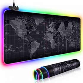 GMS RGB Gaming MousePad Large World Map 90X40CM - 13 Modes