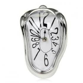 Melting Clock Silver